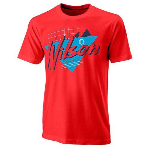 Wilson Nostalgia Tech Tee Mens Infrared WRA779403