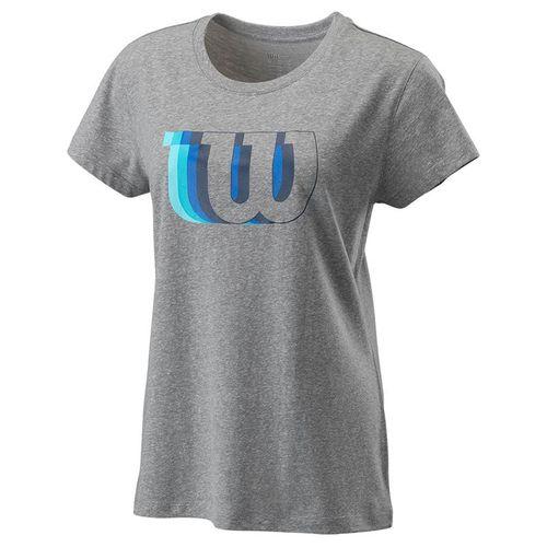 Wilson Blur Tech Tee Womens Heather Grey WRA781202