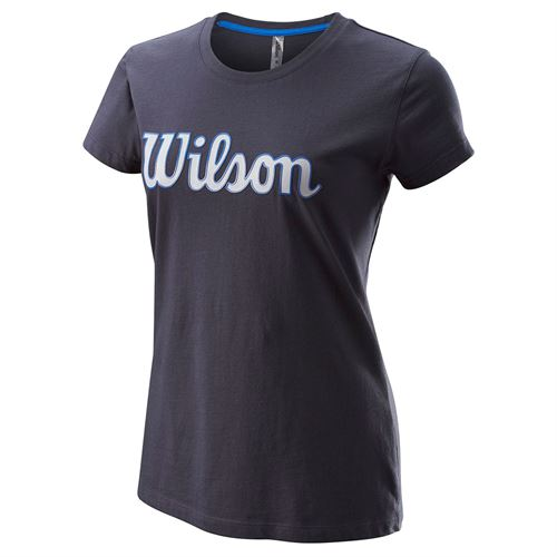 Wilson Script Cotton Tee IV Womens Outer Space WRA787603