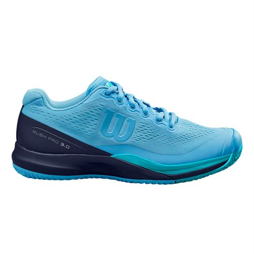 Wilson Rush Pro 3.0 Womens Tennis Shoe Alaskan Blue/Peacoat/Scuba Blue WRS326020
