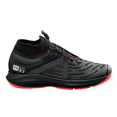 Wilson Kaos 3.0 SFT Womens Tennis Shoe Black/White/Fiery Coral WRS326590