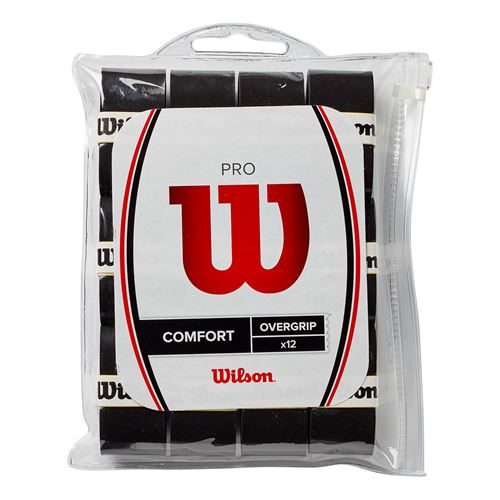 Wilson Pro Overgrip 12 Pack - Black