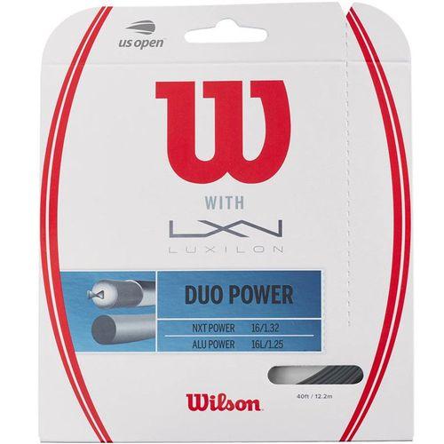 Wilson Duo Power Hybrid Tennis String - Wilosn NXT Power/Luxilon ALU Power 125
