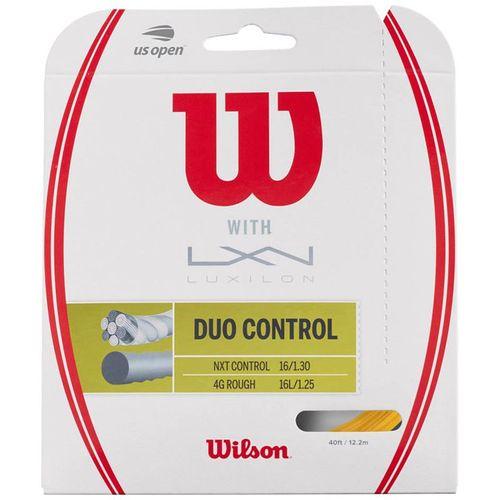 Wilson Duo Control Hybrid Tennis String - Wilson NXT Control/Luxilon 4G Rough