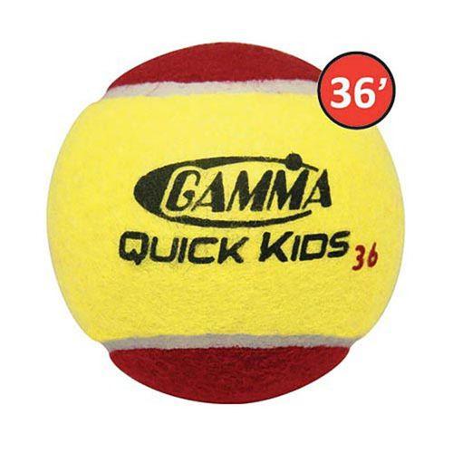 Gamma Quick Kids 36 Tennis Balls 12 Pack