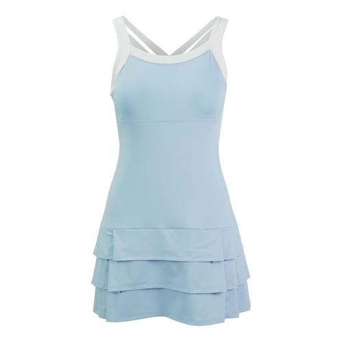 DUC Grace Fashion Strappy Dress - Light Blue/White
