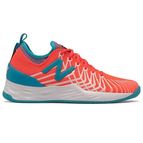 New Balance Fresh Foam LAV (D) Womens Tennis Shoe - Coral/Blue